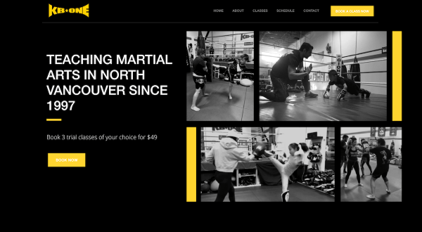 kb one martial arts website