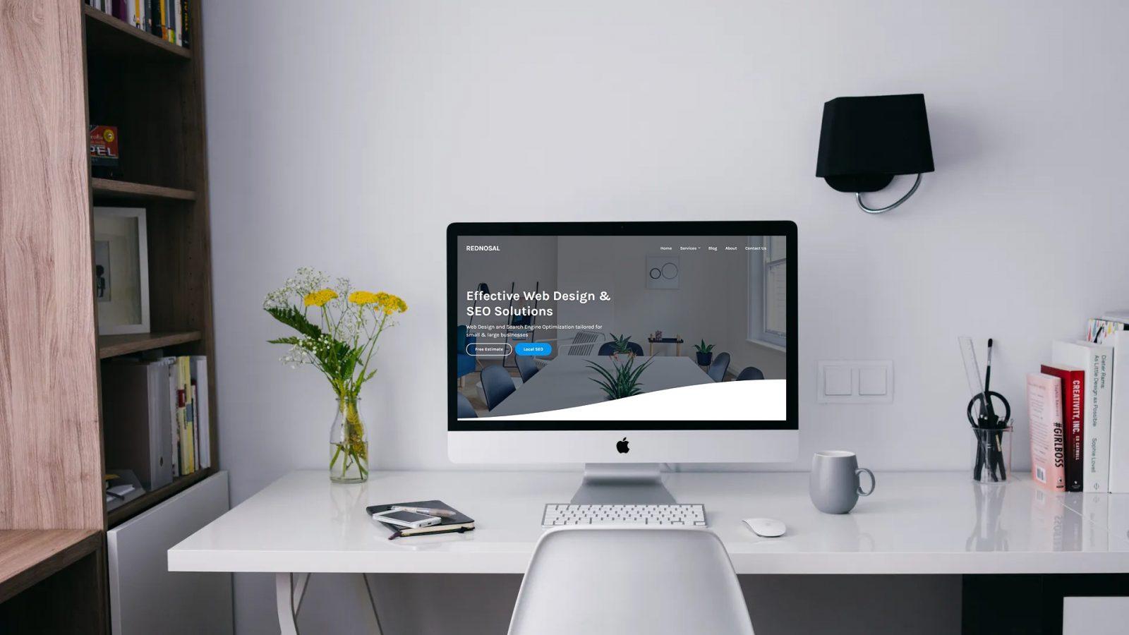 new website on desktop